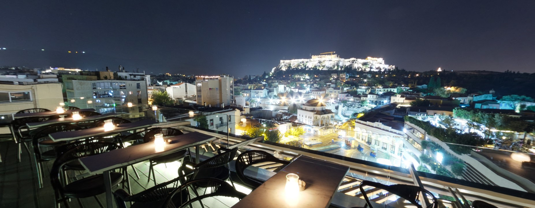 athens center rooftop bar - A for Athens
